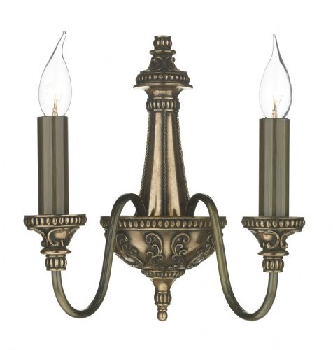 Bailey 2-light Made in the Cotswolds Wall Light Rich Bronze BAI0963 (Class 2 Double Insulated)